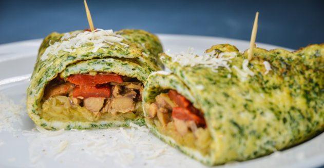 Wrap med spinat, makrel og surkål