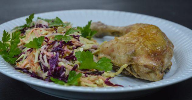 Kylling og hjemmelavet coleslaw