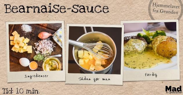 Rigtig hjemmelavet bearnaise-sauce (uden pulver)
