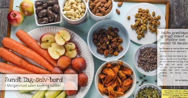 Morgen-sundt tag-selv-bord