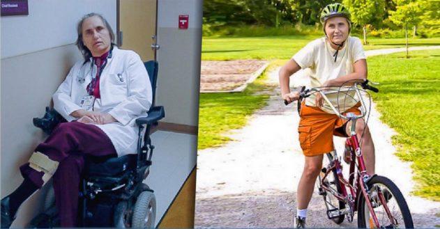 Sklerose-ramt læge fra kørestol til cykel med kostændring